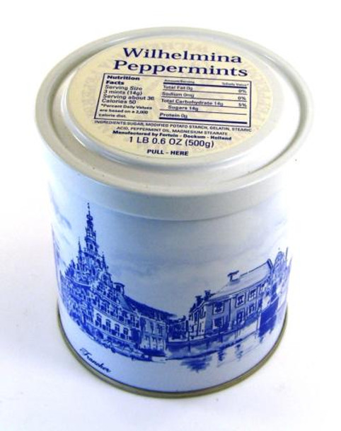 WILHELMINA PEPPERMINT TIN 500g