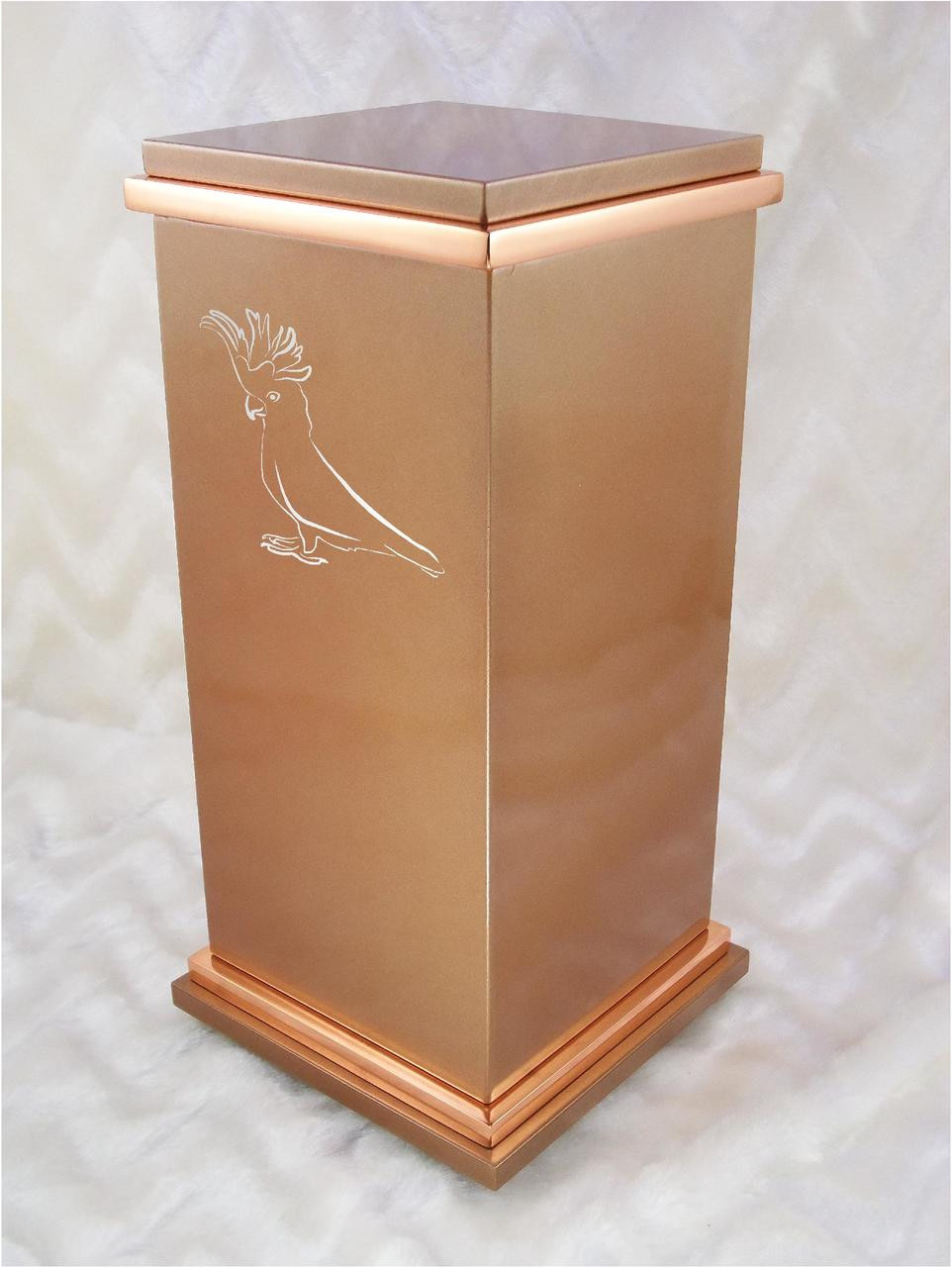 Personalized Rg Custom Engraved Cockatoo Cremation Urn Vault By Amaranthine Urns Made In The Usa
