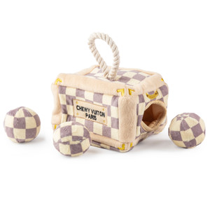 Checker Chewy Vuiton Trunk Interactive  Toy
