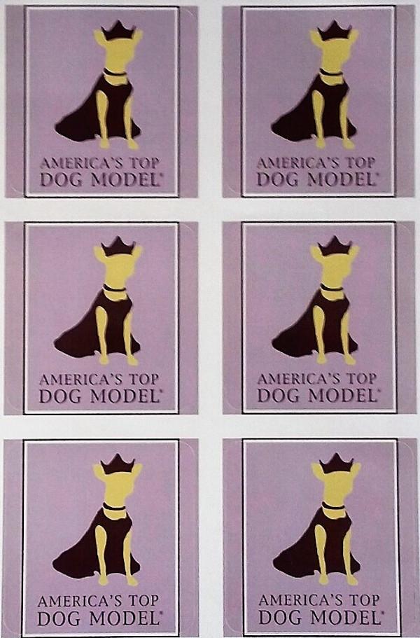 America's Top Dog Model Signature Stickers