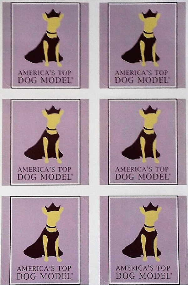 America's Top Dog Model Signature Stickers