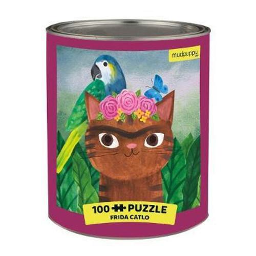 Frida Catlo Artsy Cats 100 Piece Puzzle Tin