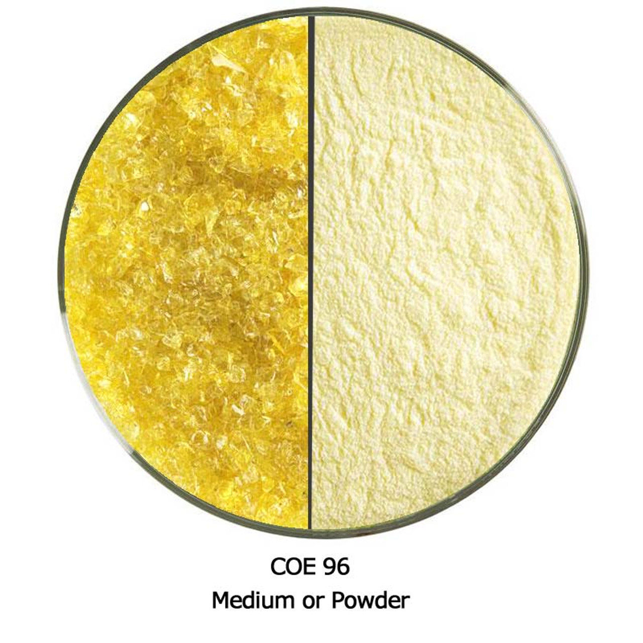 96 Coe 8.5 Oz Yellow Opal Powder Frit