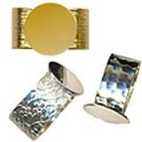 Plated Adjustable Rings Glue on pads