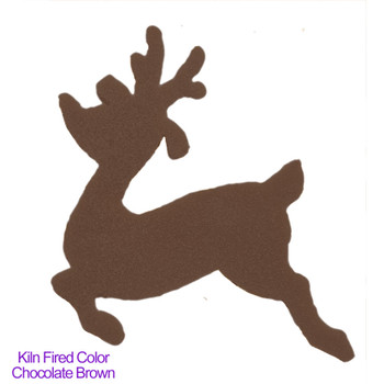 COE96 Precut Glass Reindeer Rudolph Kiln Fired to a Chocolate Brown