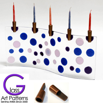 Fused Glass Candle Holders Each Candle Boot Kit contains 3