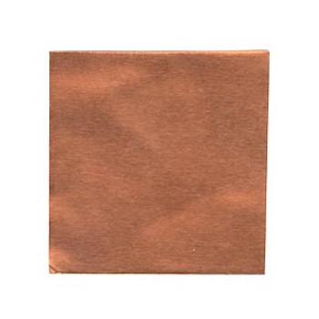 Sheet: Copper .005 gauge, 6 x 6 inch (152.39 mm square) Craft Metal