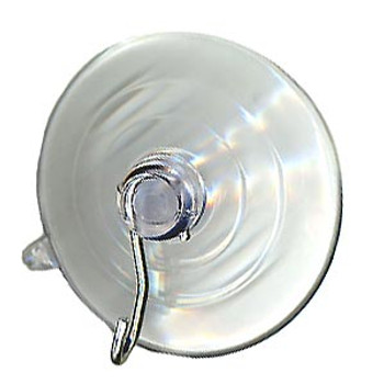 """Suction Cup - Medium (1 5/8"""" diameter) Recessed groove, with hook"""