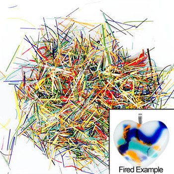 Fused Glass Enamel Paint Threads Mixed Colors Kiln Fire