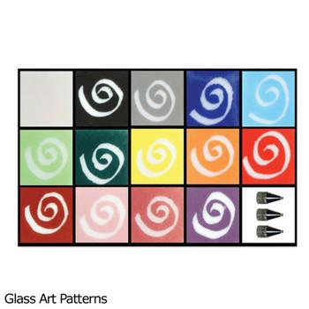 Basic Color Pen Kit (14 Standard Colors 2 oz ea) Glassline Fusing Paint Pens