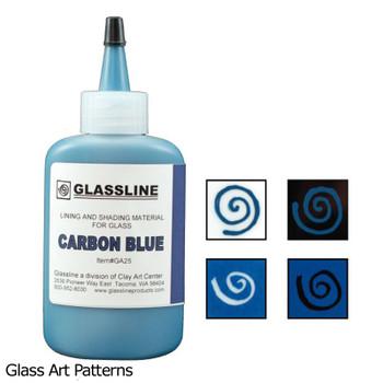 Paint Carbon Blue Glassline Fusing Pen GA25