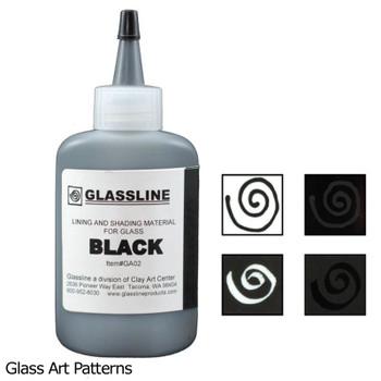 Paint Black Glassline Fusing Pen GA02