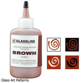 Paint Brown Glassline Fusing Pen GA11