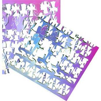 Green-Pink Dicro Slide Scraps