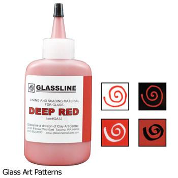 Deep Red (2oz) Glassline Fusing Paint Pen 44515