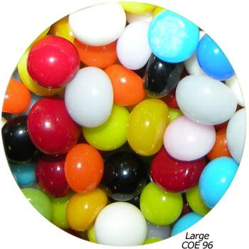 COE96 Fusible Glass Pebbles Multicolor Opaque Mix, SKU 96920-P