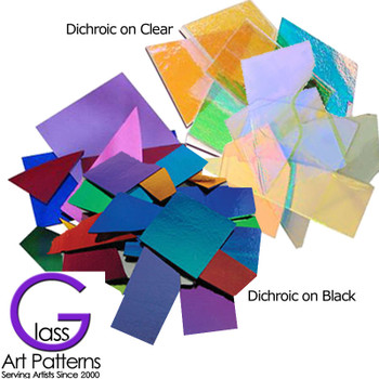 Dichroic Thin DichroMagic Smooth Variety Scrap Glass COE90, 1 oz