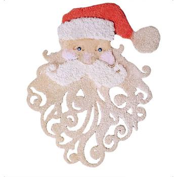 COE96 Precut Glass 3D Santa Beard Wafer Christmas Ornament (96800)
