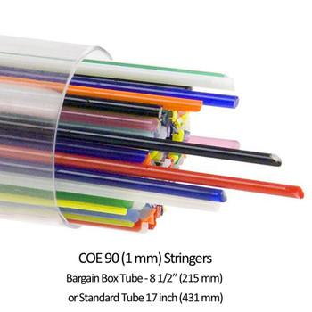 COE90 Bullseye Stringer Assortment Tube 2 sizes,  008418-0107-F-TUBE