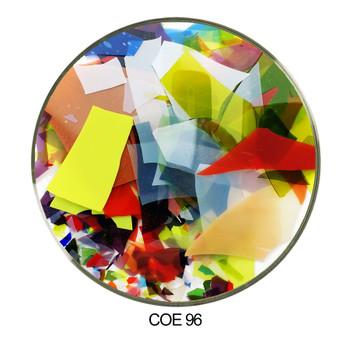 Coloritz™ - Uroboros Confetti Glass Shards Mardi Gras Color Mix COE96, SKU 96920-C