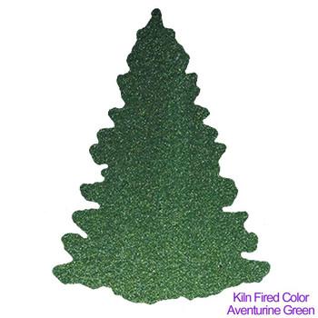 Kiln Fired COE96 Precut Glass Aventurine Green Balsam Fir Tree Wafer Set