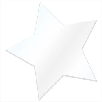 COE96 Precut Fusible Glass Star Clear or White