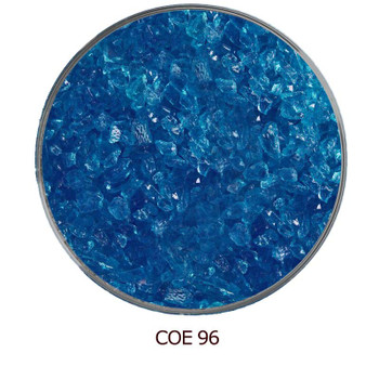 COE96 Glass Frit - Blue Deep Aqua Transparent
