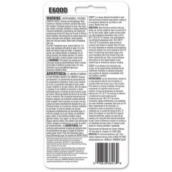 Adhesive E6000 Glass Adhesive Instructions