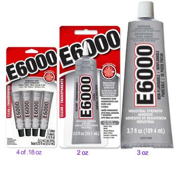 Glass Glue E6000 Craft Adhesive .18 or 2 or 3.7 oz SKU 41508