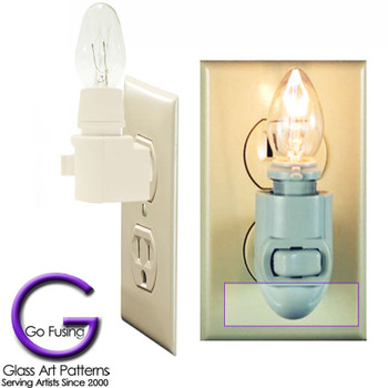 Low Profile night light that leaves the 2nd socket open compared to the cone style night lights.