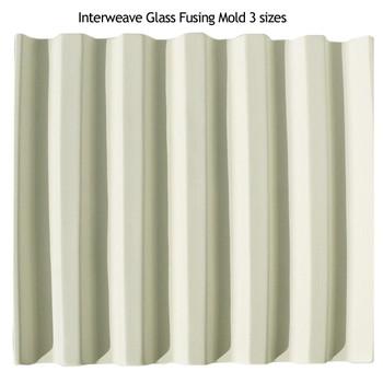 "Glass Drape Mold - Inter-Weave Rectangular 3 Sizes: Small 5 1/2"", Medium 9"", Large 11"""