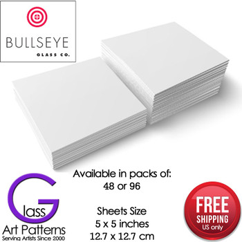 "Bullseye Thinfire Shelf Paper 5"" Square Pack of 48 or 96"
