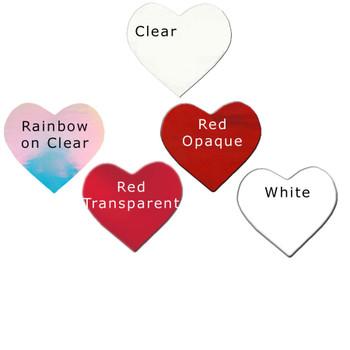 COE 90 Precut Fusible Dichroic Glass Dichroic Hearts in 5 Colors