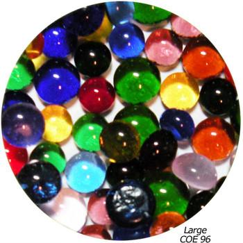 COE 96 Fusible Glass Pebbles: Multicolor Transparent Mix 1/2 inch (12.7 mm) Qty 25+ SKU 96920-P