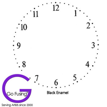 Fused Glass Decal Clock Face Number Black Enamel Waterslide Ceramic