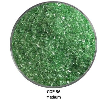 COE96 Green Transparent Fusible Glass Frit Medium Grain