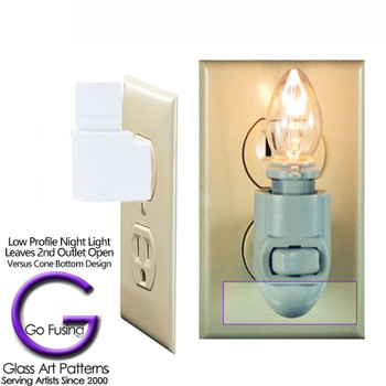 LED Sensor Low Profile Style leaves  the second outlet open for use.
