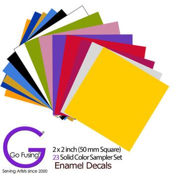 23 Colors Sample Set: Enamel Decal Fused Glass Ceramic Waterslide