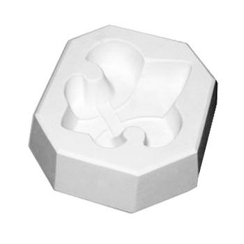 Fleur-de-lis Frit Glass Cast Mold
