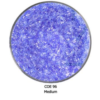OE96 Pale Blue Transparent Fusible Glass Frit