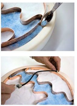 Example 1 of Glass Casting with Copper Strips