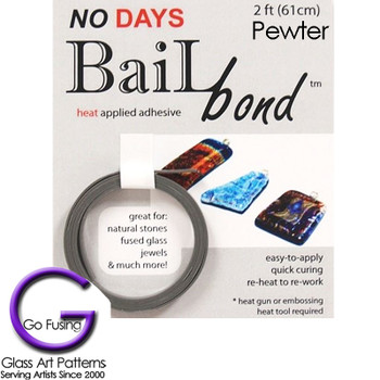 Adhesive - Glass Glue No Days Pewter BailBond 2 feet