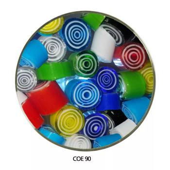 Murrini Multi Color Spiral Geometric Progression COE90 1 oz SKU 90460