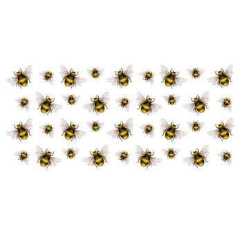 Bumble Bee Decal Fused Glass Ceramic Waterslide
