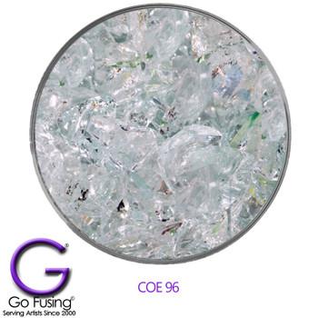 Blown Glass Scrap Glass Spectrum COE96 Clear 2 Pounds
