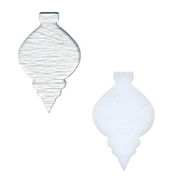 COE96 Precut Fusible Glass Christmas Ornament Narrow Blank