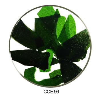 Coloritz™ Confetti Glass Shards Aventurine Dark Green COE96