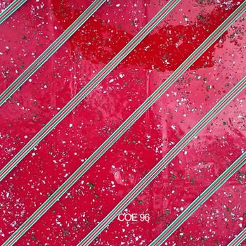 COE96 Christmas Red Transparent Streamer Custom Sheet, 96-Christmas-Red-Trans-Streamer