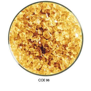 COE96 Glass Frit - Amber Pale Transparent in a medium Grain