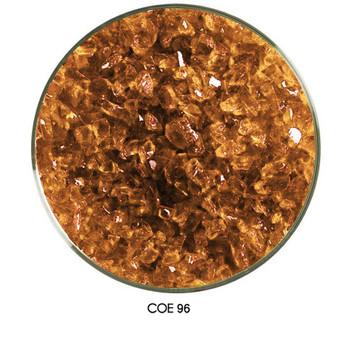 COE96 Glass Frit - Amber Medium Transparent in a medium Grain